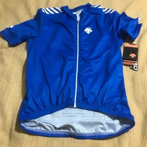NWT Blue Descente Full Zip Cycling Jersey SZ: MD